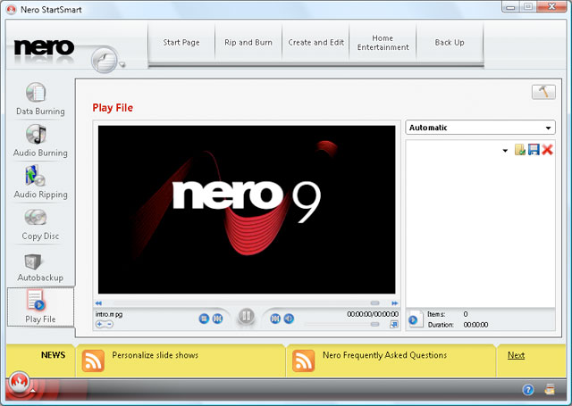 Download nero 9 free with license/serial key.