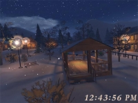 Free 3D Christmas Night Screensaver