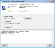 Bluetooth MAC Address Changer 1.6 Beta