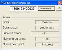 CNP - Codul Numeric Personal