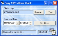 Easy MP3 Alarm Clock 1.0