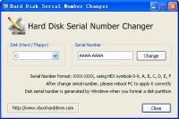 Hard Disk Serial Number Changer 1.0