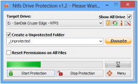NTFS Drive Protection 1.3