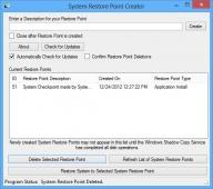Restore Point Creator 7.0.4