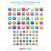 Volumetric Social Media Icons 1.0