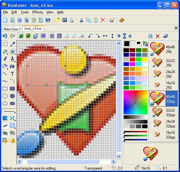 Portable Icon Lover 5.14 - программа для создания и редактирования
